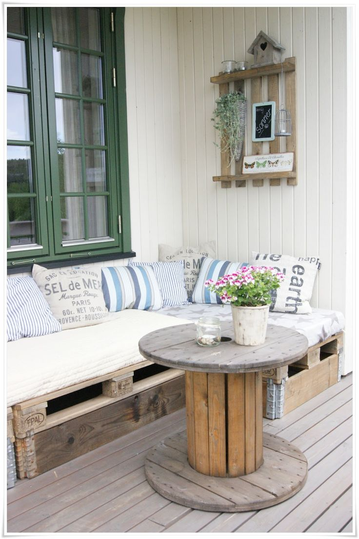 Construire un salon de jardin en palettes for Salon en palette photos