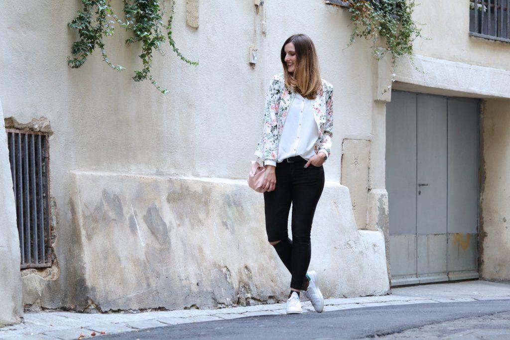 blog mode Bomber fleuri