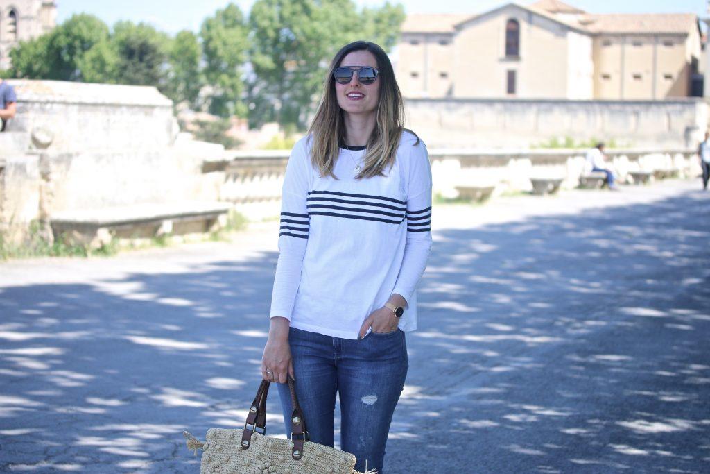 blog mode look marinière