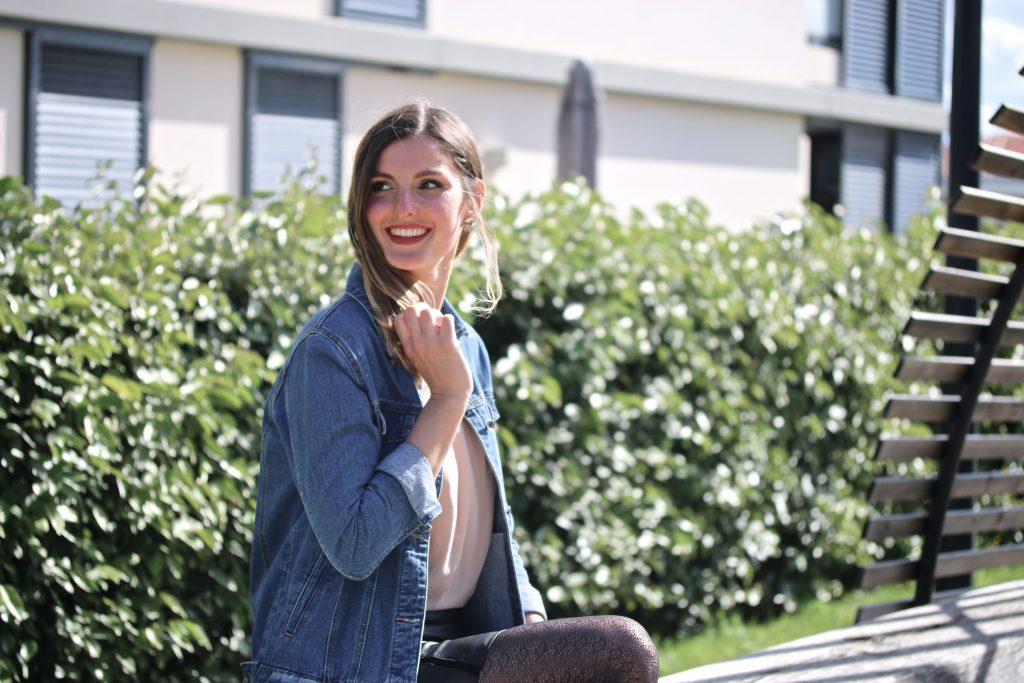 blog mode look jupe en cuir